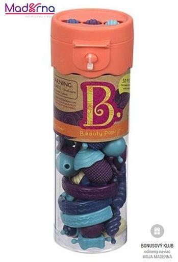 B-Toys spojovacie korále a tvary BEAUTY POPS 50ks modré, fialové - VÝPREDAJ