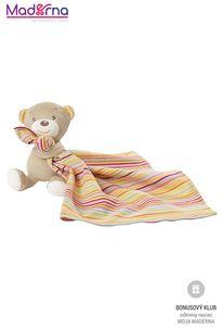 BABY FEHN Rainbow medvedík s maznáčikom