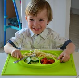 Baby Ring unikátny tanier Baby Mat zelený