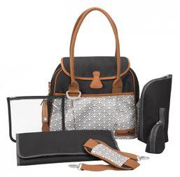 BABYMOOV Taška Style Bag Black sivá/modrá