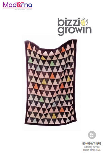 bizzi growin pletená deka Triangles