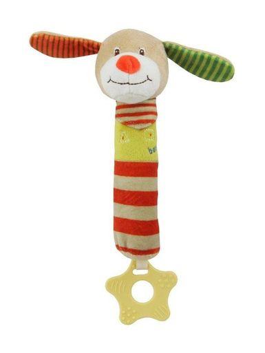 Detská pískacia plyšová hračka s hryzátkom Baby Mix psík - Podľa obrázku