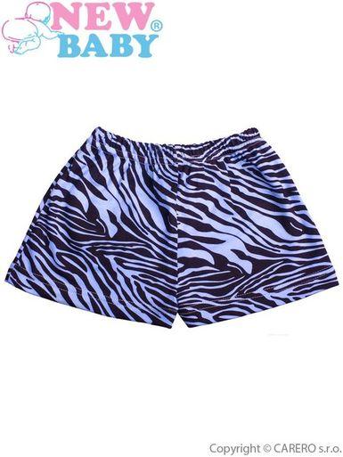 Detské kraťasy New Baby Zebra modré - Modrá