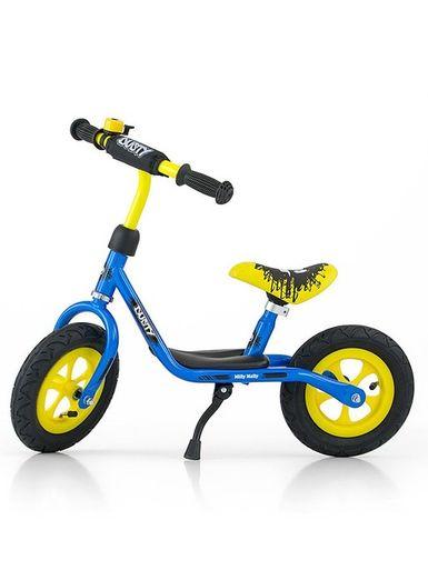"""Detské odrážadlo bicykel Milly Mally Dusty blue 10"""" - Modrá"""