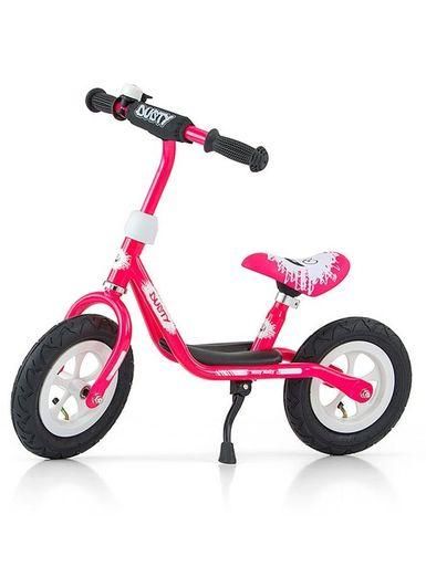 """Detské odrážadlo bicykel Milly Mally Dusty pink 10"""" - Ružová"""