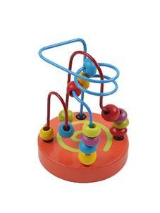 Drevená edukačná hračka Baby Mix labyrint - Oranžová