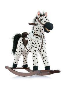 Hojdací koník Milly Mally Mustang bielo-čierny puntíkovaný - Biela