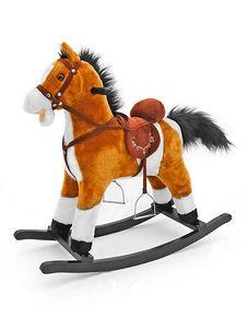 Hojdací koník Milly Mally Mustang svetlo hnedý - Hnedá