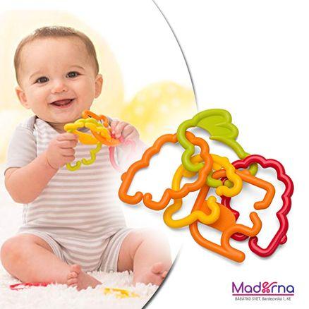 Infantino Krúžky spojovacie zvieratká žlté