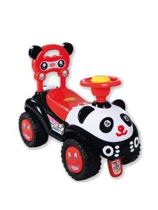 Jezdítko Panda Baby Mix black - Čierna
