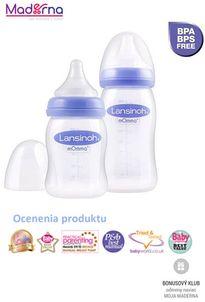 Lansinoh kojenecká fľaša 160ml s Natural Wave TM cumľom (S)