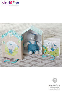 Meiya and Alvin darčekový set DELUXE knižka + hračka Sloník Alvin 25 cm