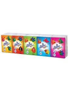 Papierové vreckovky Linteo Kids mini 10x10ks biele 3-vrstvové - Podľa obrázku