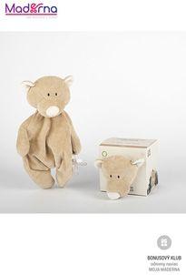 Wooly organic Teddy uspávačik s držiakom na dudlík 100% biobavlna