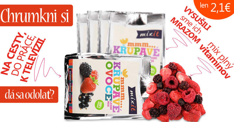 mixit chrumkave ovocie do vrecka