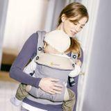 ERGOBABY Nosič dieťaťa Four Position 360 Baby Carrier Grey + DARČEK Zavinovačka