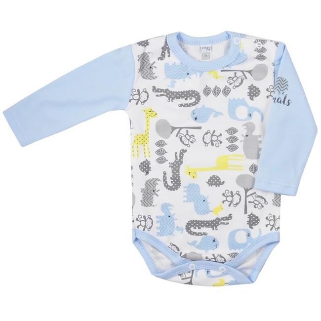 efbbcf0ce Dojčenské body s dlhým rukávom Koala Animals in ZOO modré - Modrá ...