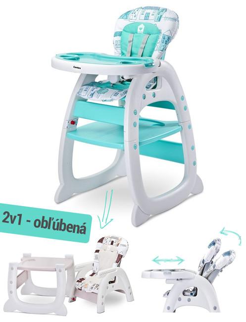 2a35e9e97252d Jedálenská stolička CARETERO HOMEE mint - Mätová - MADERNA.sk