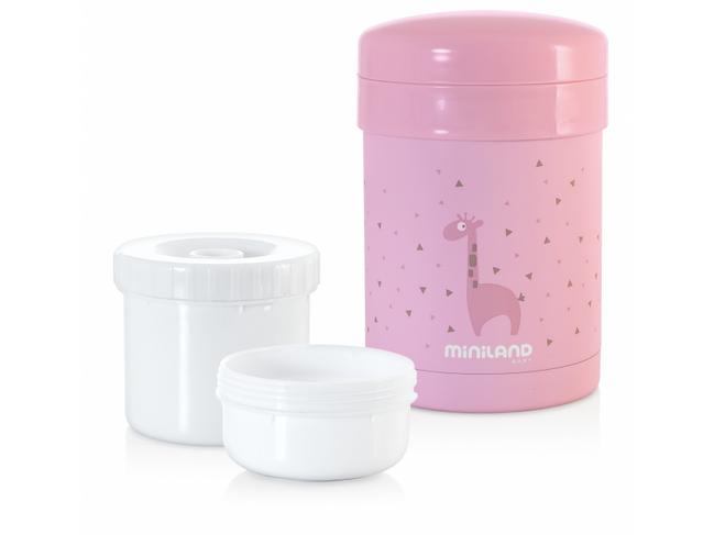 Miniland Termoska Thermic a kelímky na jedlo Pink 700ml - MADERNA.sk 186d70b38d4