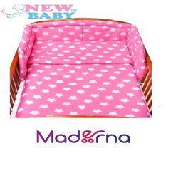 2-dielné posteľné obliečky New Baby 90/120 cm ružové s hviezdičkami