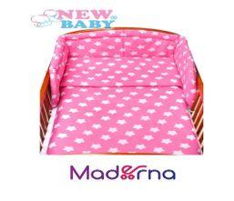 6-dielne posteľné obliečky New Baby 90/120 cm hviezdičky ružové