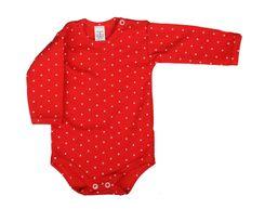 ANTONY Body dlhý rukáv - Bodka - červené
