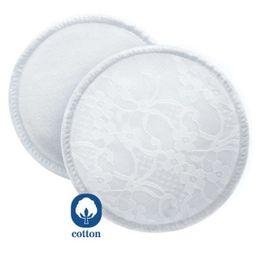 Avent prsné vložky absorpčné bavlnené - pracie - 6 ks