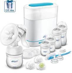 Avent - Sada manuálna odsávačka mlieka Natural a elektrický sterilizátor