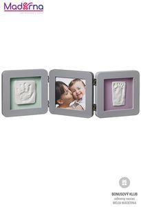 Baby art rámček double print frame grey
