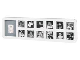 BABY ART - Rámik 1st Year Print Frame White / Grey