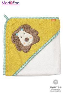 BABY FEHN Funky uterák s kapucňou lev