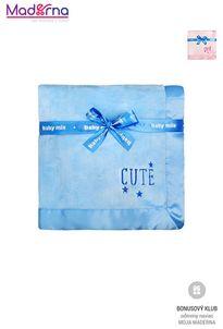 Baby Mix Cute Detská plyšová deka