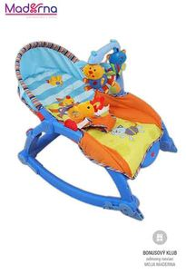 Baby Mix Detské ležadlo 2v1 blue