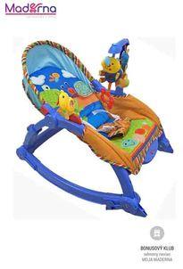 Baby Mix Detské ležadlo 2v1 lúka modré