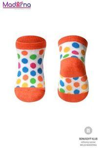 Baby ono Ponožky bavlnené 0+ bodky