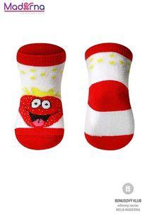 Baby ono Ponožky bavlnené 0+ červené