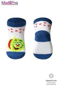 Baby ono Ponožky bavlnené 0+ modré