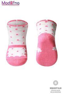 Baby ono Ponožky bavlnené 0+ ružová