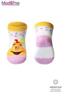 Baby ono Ponožky bavlnené 0+ žlté