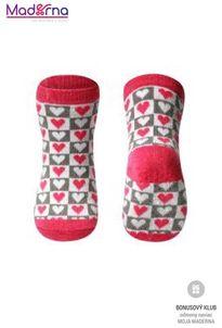 baby ono Ponožky protišmykové, bavlnené anti-slip 12m+ červená