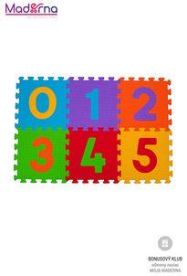 Baby ono Puzzle penové číslice 6ks, 6m+