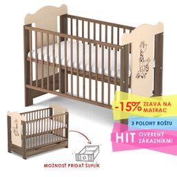 Baby Sky drevená postieľka MISIEK