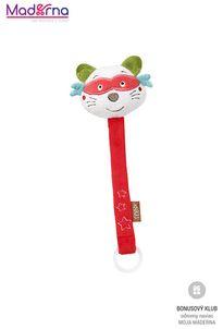 BABYFEHN Jungle hračka na dudlík medvedík čistotný