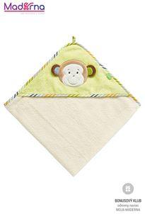 BabyFEHN Monkey Donkey osuška s kapucňou opička