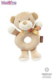 BABY FEHN Rainbow mäkký krúžok medvedík