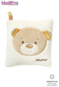 BABY FEHN Rainbow vankúšik čerešňa medvedík
