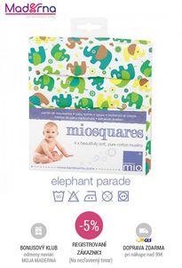 Bambino mio - Mušelínové plienky ELEPHANT Parade, 4 ks