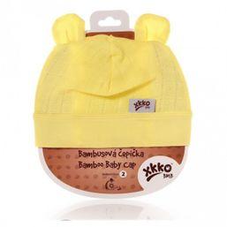 Bambusová detská čiapočka lemon KIKKO