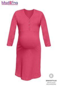 Be MaaMaa Tehotenská nočná košieľka na kojenie PAVLA 3/4 - lososovo ružová