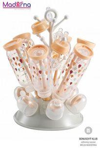Beaba odkvapkávač kojeneckých fliaš sivá-ružová